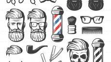 وکتور لایه باز آرایشگاه مردانه